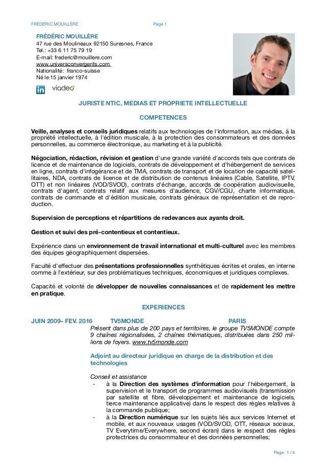 2016-Frédéric Mouillère-CV-fr