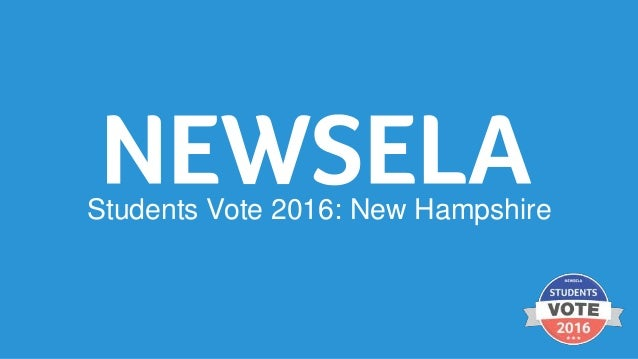 2016 Students Vote: New Hampshire Primary