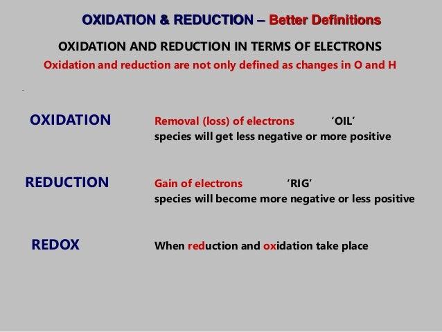 an introduction to the definition of redox equations Direct electrochemistry of proteins and enzymes: an introduction christophe léger laboratoire de bioénergétique et ingénierie des protéines.