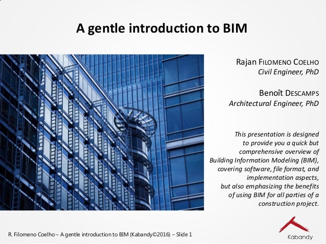 Introduction générale au BIM