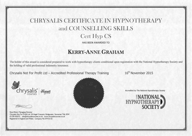 module 4 chrysalis hypnotherapy and counselling skills View daniel browne's profile on linkedin, the world's largest professional community  hypnotherapy and counselling skills tutor chrysalis not for profit  i teach the one year certificate .