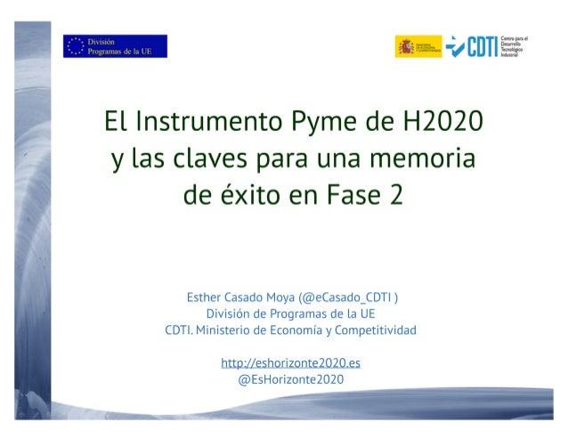 20160317 Taller del Instrumento PYME de H2020 en Navarrra
