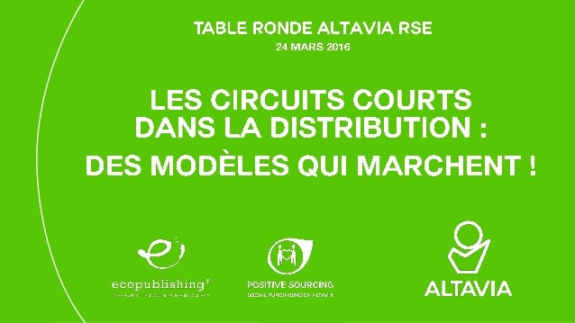 ALTAVIA 13/04/2016 Table Ronde Altavia RSE 2 Marc-David Choukroun, CEO & Co-fondateur Jean Moreau, Fondateur Start-up pion...