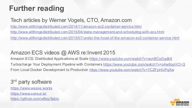 Running docker clusters on aws june 2016 for Consul aws ecs