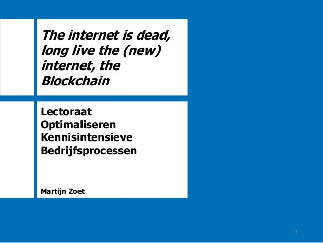 The internet is dead, long live the (new) internet, the ...