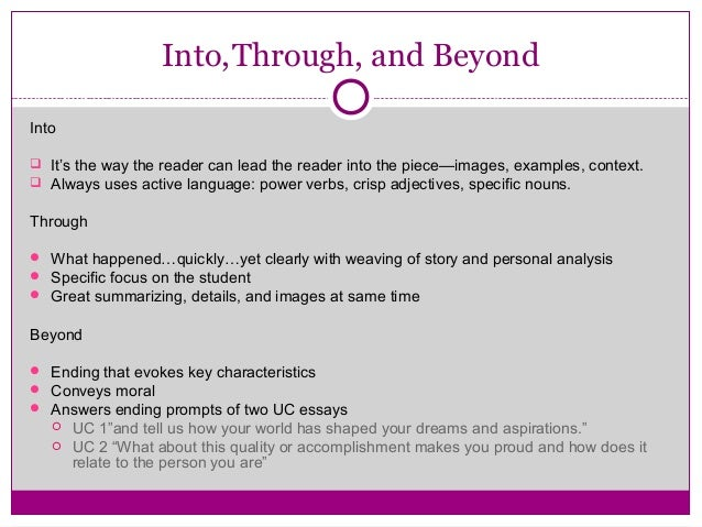 Question about UC personal statements?