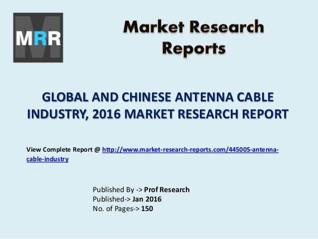 Antenna Cable Industry Analysis by Application, Company ...