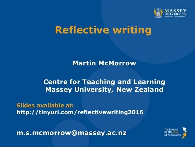 reflective essay about presentation