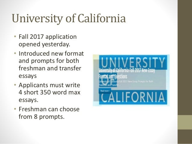University of california application essay