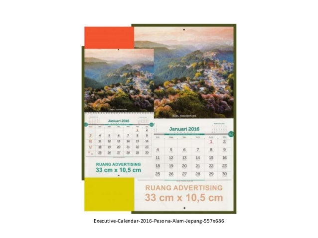 Calendar Alam : Executive calendar pesona alam jepang
