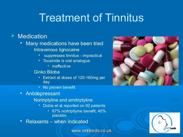 objective assessment of the effects of intravenous lidocaine on tinnitus - Solutions for the treatment