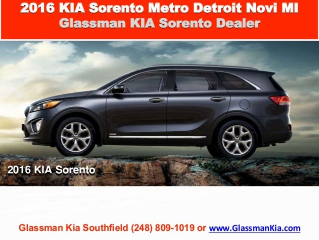 2016 kia sorento metro detroit novi mi new suv. Black Bedroom Furniture Sets. Home Design Ideas