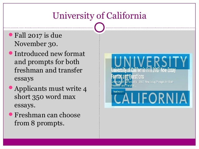 essay prompts for uc 2012 Uc essay prompt 4: educational experiences by j9robinson | apr 30, 2016 university of california personal insight question 4: a chance to showcase your field of.