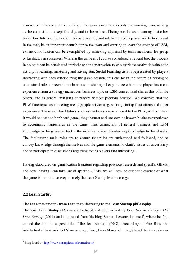 Master thesis foreword