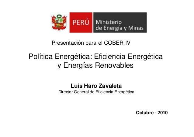 201 luis haro   politica energetica, eficiencia energetica y energias renovables