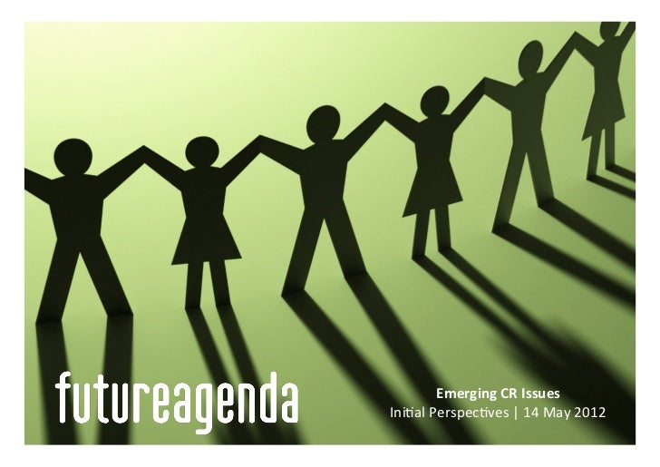 2020   Emerging Corporate Responsibility Issues - May 2012
