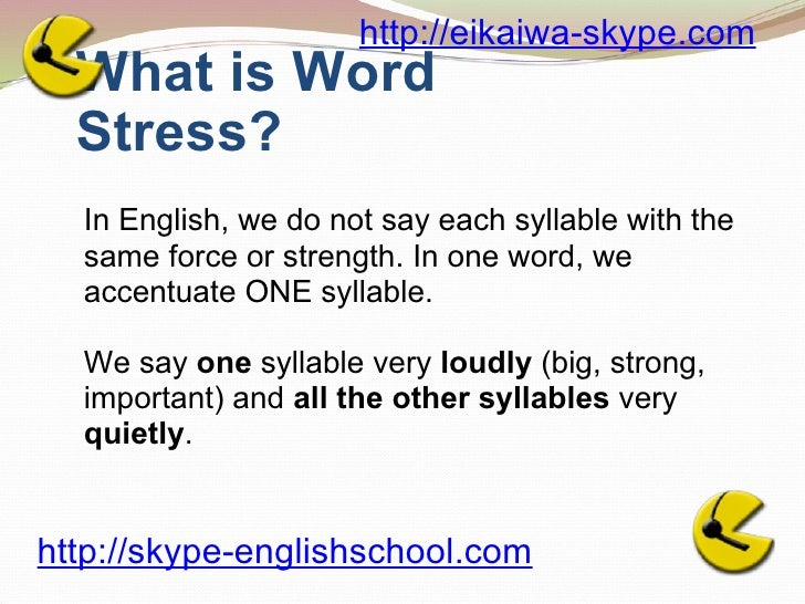 word stress in english