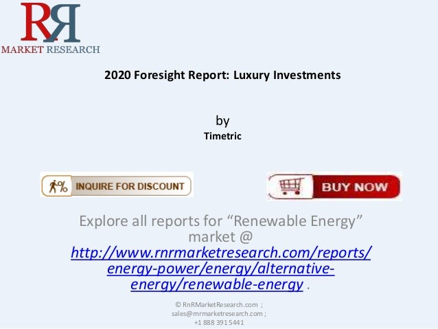 2020 foresight report luxury investments market