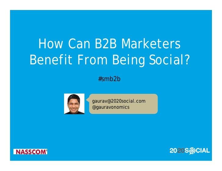 connect social media to B2B