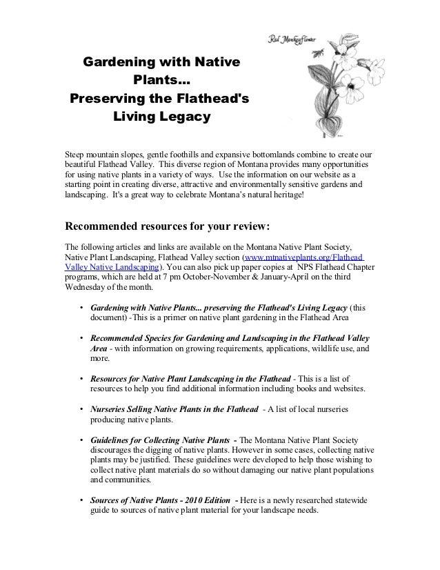 Gardening with Native Plants - Flathead Valley, Montana