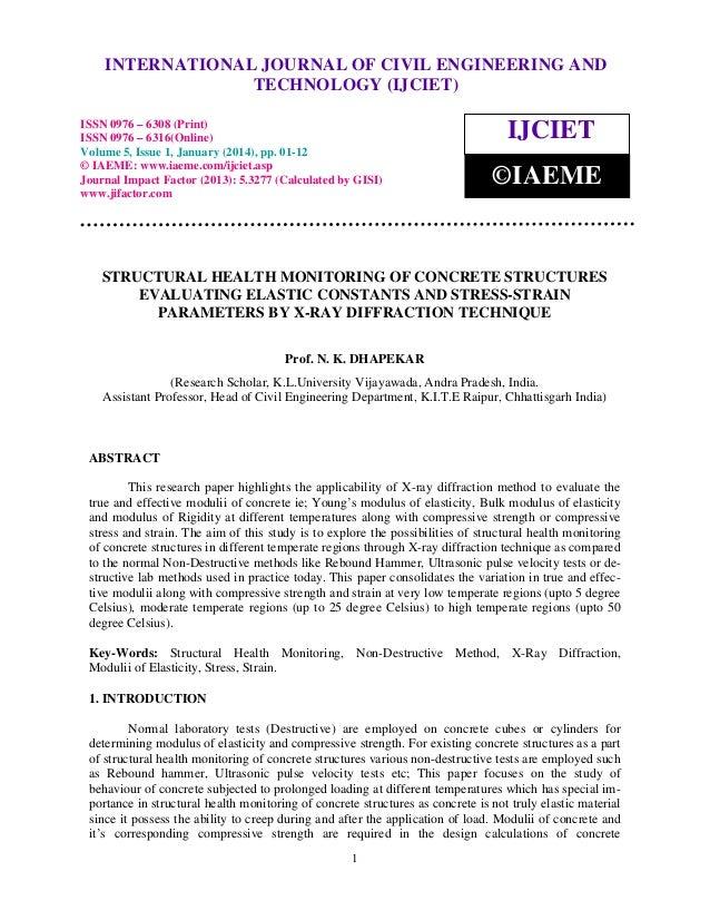 International Journal of Civil Engineering and Technology (IJCIET), ISSN 0976 – 6308 INTERNATIONAL JOURNAL OF CIVIL ENGINE...