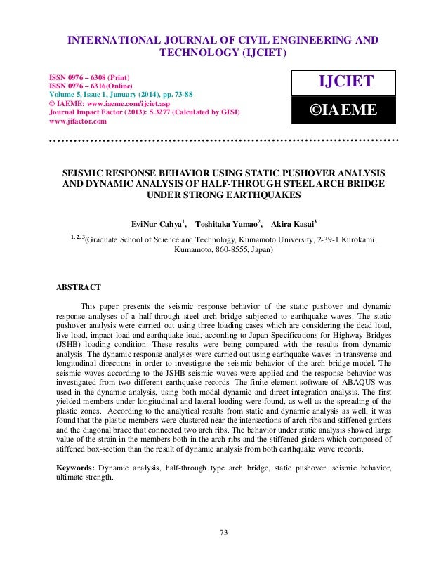 International Journal of Civil Engineering and Technology (IJCIET), ISSN 0976 – 6308 (Print), ISSN INTERNATIONAL JOURNAL O...