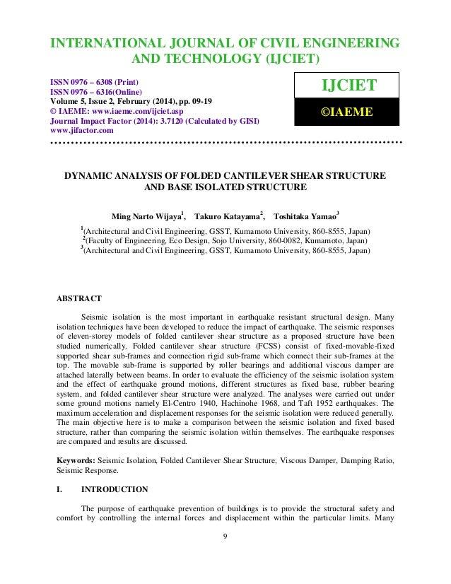 International Journal of Civil Engineering and Technology (IJCIET), ISSN 0976 – 6308 INTERNATIONAL JOURNAL 2, February (20...