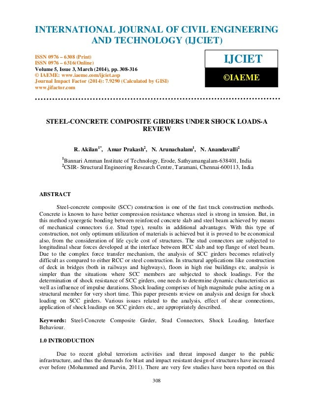 International Journal of Civil Engineering and Technology (IJCIET), ISSN 0976 – 6308 (Print), ISSN 0976 – 6316(Online) Vol...