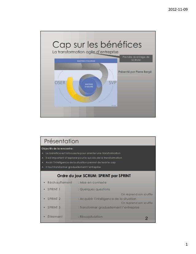 CONF. 204 - Conditions et mise en œuvre des bénéfices d'un projet Agile