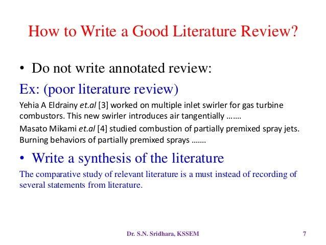 How to write literature survey