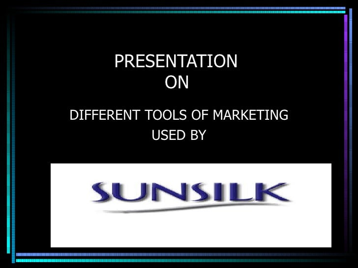 PRESENTATION    ON DIFFERENT TOOLS OF MARKETING USED BY