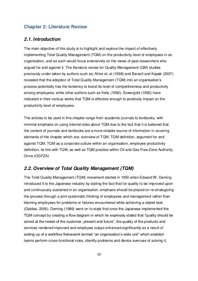 Essay About Quality Management System