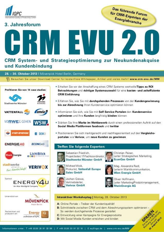 3. Jahresforum CRM EVU 2.0