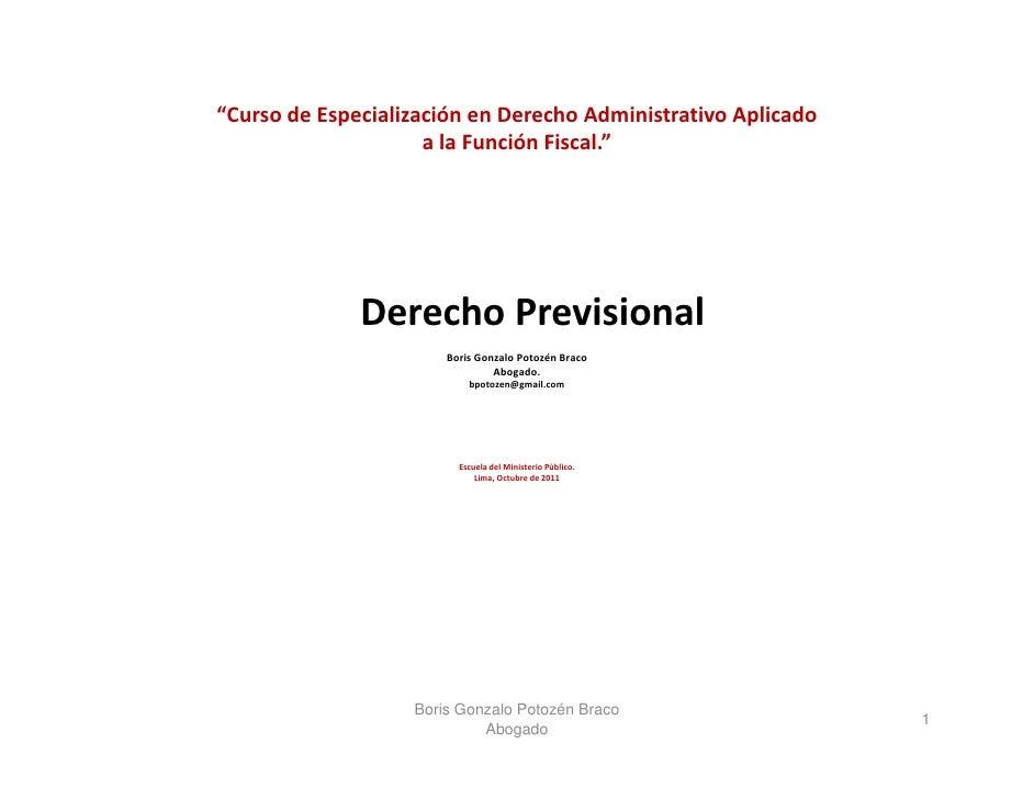 El Régimen Previsional a cargo del Estado - DL 20530