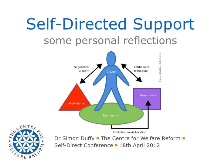 Self-Directed Support  some personal reflections    Dr Simon Duffy ■ The Centre for Welfare Reform ■    Self-Direct Confer...