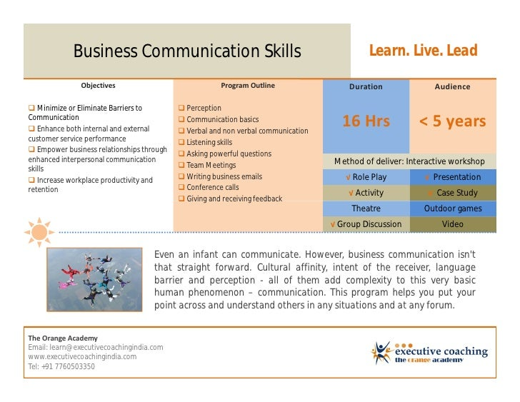 business communication outline