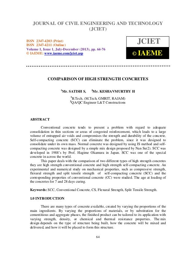 Journal of CivilOF CIVIL ENGINEERING ANDISSN 2347-4203 (Print), JOURNAL Engineering and Technology (JCIET), TECHNOLOGY ISS...