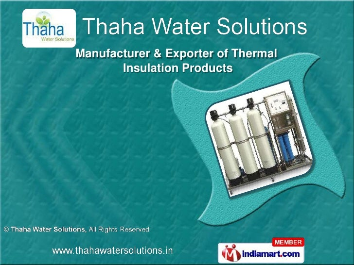 Manufacturer & Exporter of Thermal       Insulation Products