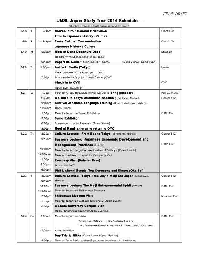 Program Study Tours