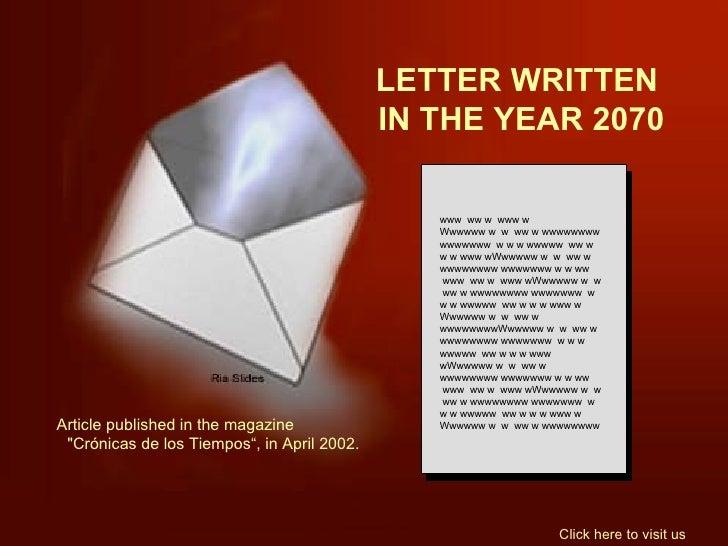 YEAR 2070......