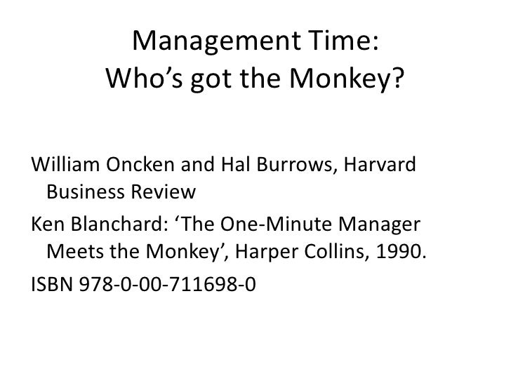 one minute manager meets the monkey essay