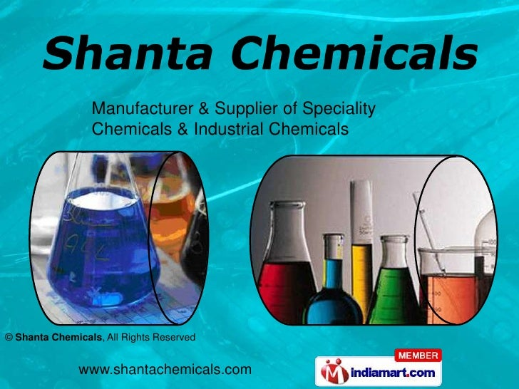 Manufacturer & Supplier of Speciality Chemicals & Industrial Chemicals<br />