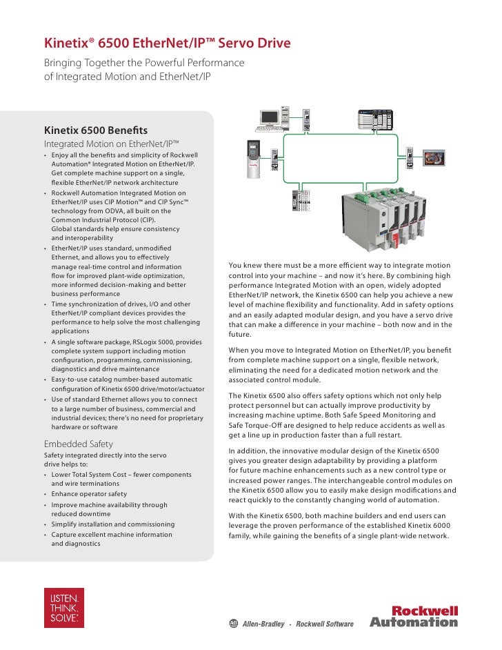 Kinetix® 6500 EtherNet/IP™ Servo Drive Bringing Together the Powerful Performance of Integrated Motion and EtherNet/IP    ...