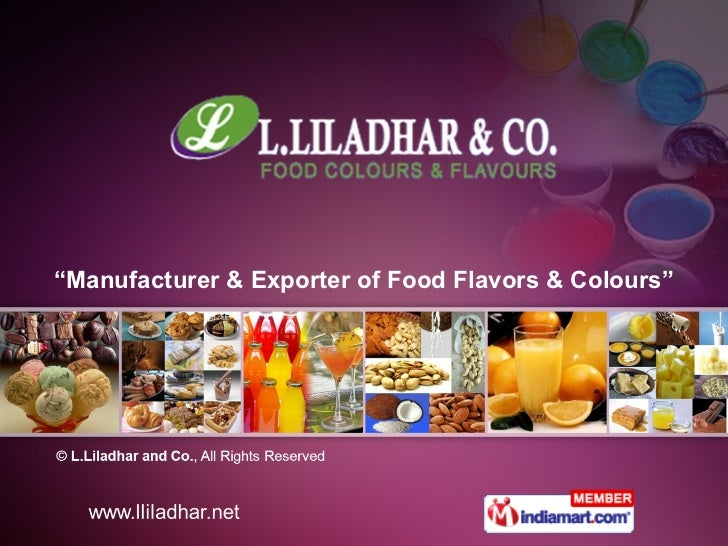 """"""" Manufacturer & Exporter of Food Flavors & Colours"""""""