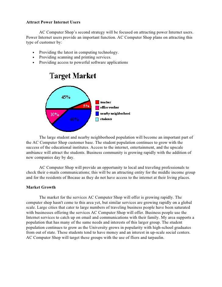 Computer shop feasbility study