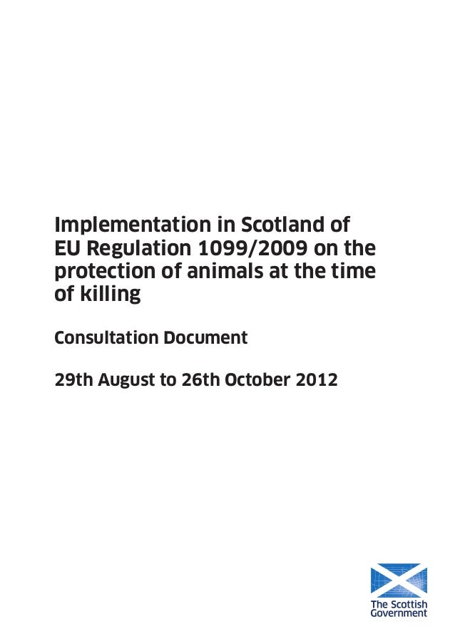 EU 2099/2009 Scottish background info