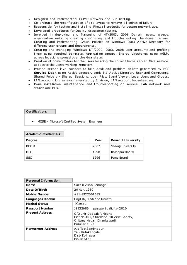 Sachin Resume Updated