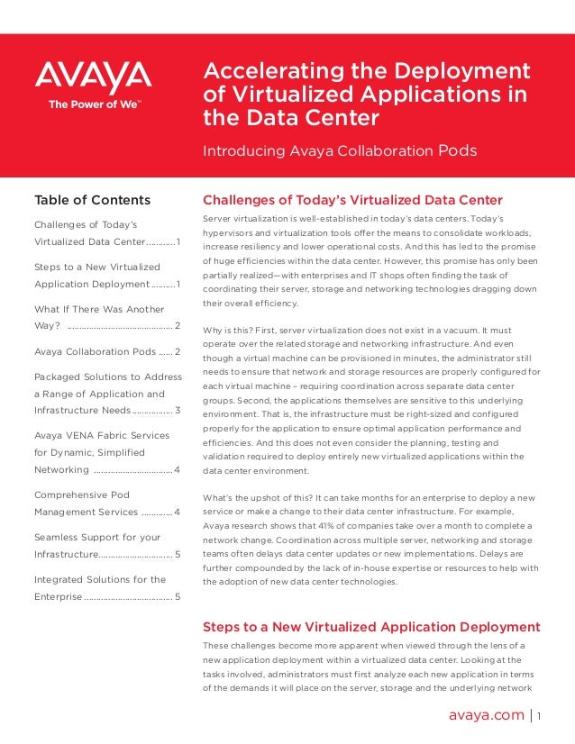 Accelerating the Deployment of Virtualized Applications in the Data Center