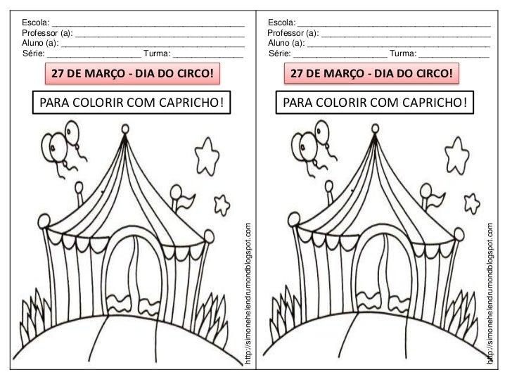 20 atividades para colorir no dia do circo