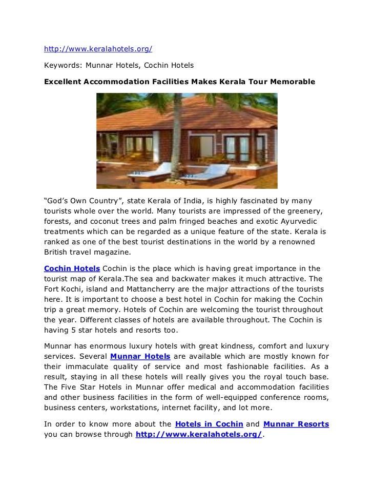 """HYPERLINK """"http://www.keralahotels.org/""""http://www.keralahotels.org/<br />Keywords: Munnar Hotels, Cochin Hotels<br />Exce..."""